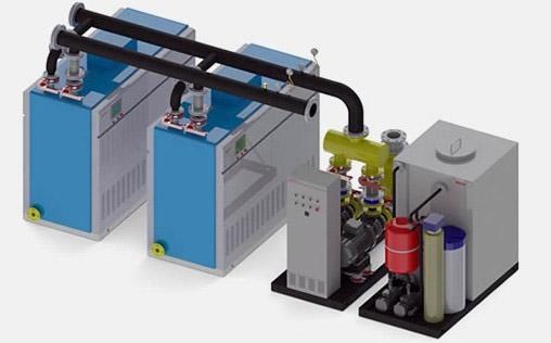 燃气锅炉+冷水机组+冷却塔技术